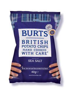 4/5 knapriga och regäl smak. dyra. burt's british potato chips flavour: seasalt: