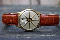 Benrus Star-O-Matic vintage jump hour watch