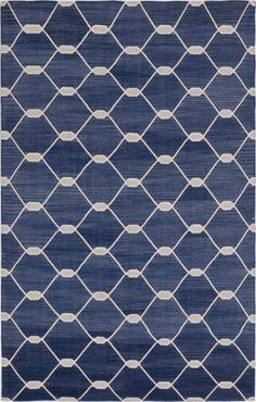 Madeline Weinrib - Cotton - Carpets. Indigo Chi Chi Kari handwoven cotton flatweave carpet. 170cm x 114cm. KD: we have this.
