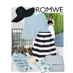 Romwe - Striped Knee Length Skirt by iwy-croatia on Polyvore featuring polyvore, fashion, style, 3.1 Phillip Lim, Madden Girl, Givenchy and Kate Spade