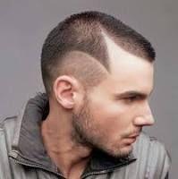 capelli uomo corti rasati riga - Cerca con Google