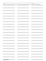 Four black and white inventory cards make up this free