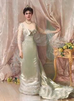 View Portrait of Princess Evelyne Colonna di Stigliano by Vittorio Matteo Corcos on artnet. Browse upcoming and past auction lots by Vittorio Matteo Corcos. 1900s Fashion, Vintage Fashion, Vintage Beauty, Classical Art, Italian Art, Historical Costume, Renaissance Art, Fashion History, Vintage Outfits