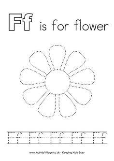 Tracing alphabet F