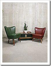 Absoluut 'happy colors' deze 2 vrolijke vintage design cocktail stoelen…