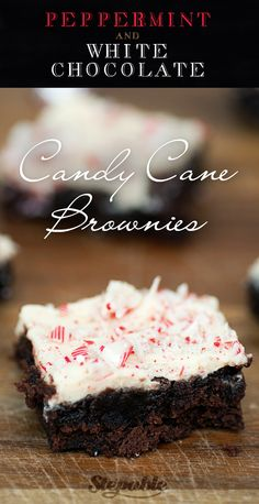 Peppermint+&+White+Chocolate+Candy+Cane+Brownies+@stepable+#recipes