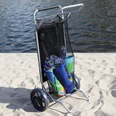 Copa Cargo Table Beach Cart - Beach Carts at Hayneedle can be a table Beach Cart, Fishing Chair, Picnic Cooler, Camping Furniture, Best Home Gym, Beach Accessories, Camping And Hiking, Hiking Equipment, Boat Plans