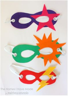 Easy Family Superhero Costumes simple mask template