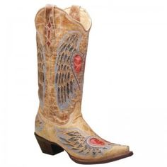 Corral Ladies Antique Saddle Blue Jean Wing Boot - WESTERN BOOTS - BOOTS #corral #boots @Baskins Western