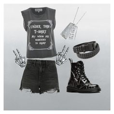 """"""""""" by o-x-x-o ❤ liked on Polyvore featuring Wildfox, Alexander Wang and Dr. Martens"""
