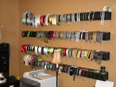 Rain Gutters for Ribbon Storage