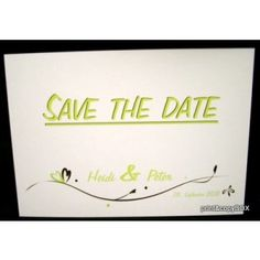 """Save the Date """"In Love"""" grün Save The Date, Dating, Love, Decor, Paper Mill, Card Wedding, Invitations, Amor, Quotes"""