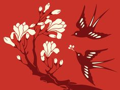 illustration,japanese,birds,red,swallows,vector-e0bd4d13c97539a8aa126fbabbe65610_h.jpg (400×300)