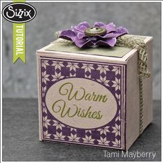 9/24/13  Sizzix Die Cutting Tutorial | Warm Wishes Gift Box by Tami Mayberry