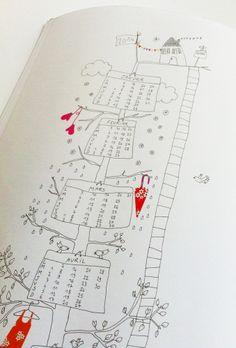 """Le calendrier 2014 """"L'Arnre à colorier"""" © Papillon*Papillonnage"""