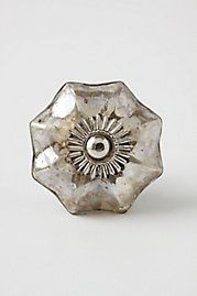 Anthropologie Mercury Glass Knob. This would look awesome on super dark wood