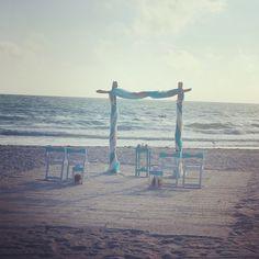 #beachwedding #beachbride #destinationwedding #floridawedding #weddingarch #ceremonyarch #weddingdecor Beach Ceremony, Ceremony Arch, Wedding Ceremony, Our Wedding, Destination Wedding, Wedding Planning, Dream Wedding, Beach Weddings, Simple Weddings