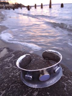 Sky Cuff custom made etched silver cuff with Ellensburg Blue agate and moonstones
