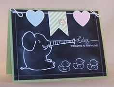 Chalkboard Technique; Henry Says, A Word for You, Every Little Bit ~ Stampin' Up!