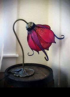 """Art Nouveau Silk Lily Lamp by Little Wing Faerie Art "" Lampe Art Deco, Gothic Home Decor, Steampunk Home Decor, Gothic Interior, Gothic House, Home And Deco, My New Room, Faeries, Lights"