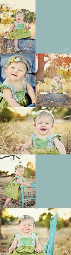Adorable little girl photos - 8 months old! :)