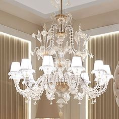 lampadario in cristallo rezzonico 12 luci Ø 121 x 148 cm Chandelier, Strong, Ceiling Lights, Lighting, Home Decor, Candelabra, Trendy Tree, Decoration Home, Room Decor