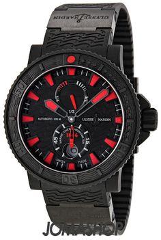 Ulysse Nardin Maxi Marine Diver Black Sea Automatic Mens Watch 263-92-3C  $7425.00  #UlysseNardin