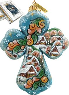 Features:  -Comes in a beautiful decorative gift box.  -Made in the USA.  Color: -Multi-color.  Country of Manufacture: -United States.  Primary Material: -Plastic.  Attachment Type: -Hanging ornament