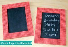 washi tape chalkboards