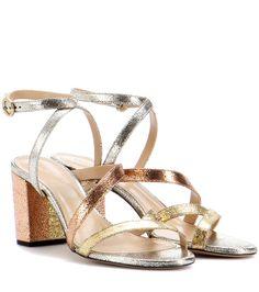 Chloé - Metallic leather sandals