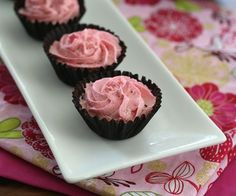 Mini Raspberry Mousse Chocolate Cups and a #chocolateparty