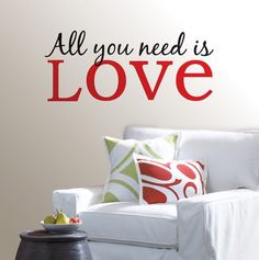 All You Need is Love Wall Quote - WallPOPS Room Decor