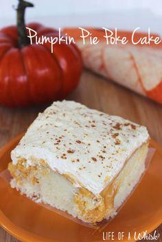 Pumpkin Pie Poke Cake