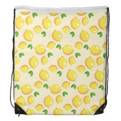 Lemon Pattern Drawstring Backpack