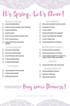 The Ultimate Spring Cleaning Checklist Free Printable  Cleaning