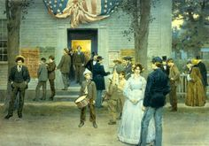 William Ladd Taylor – - President Lincoln call for volunteers Volunteers, Vintage Postcards, Time Travel, 19th Century, Art Prints, American, Gallery, Painting, Lincoln
