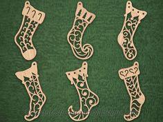 SLDK327 - Filigree Stocking Ornaments