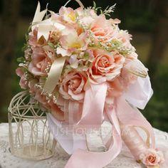 Wedding Flowers - $28.99 - Romantic Round Satin Bridal Bouquets (124032111) http://jjshouse.com/Romantic-Round-Satin-Bridal-Bouquets-124032111-g32111