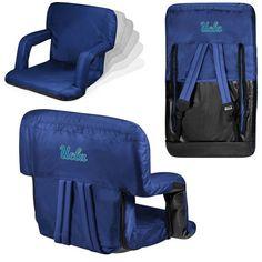 UCLA Bruins Ventura Seat Portable Recliner Chair - Navy - $77.99