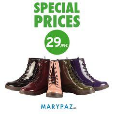 La moda más #sporty en botines militares  ►► AHORA con nuestros SPECIAL PRICES !!!  Descubre nuestros PRECIOS ESPECIALES en PRODUCTOS SELECCIONADOS   No esperes más y visita tu tienda MARYPAZ más cercana o entra ya en nuestra Online Store y disfruta del calzado más cool al mejor precio :)  #specialprices #shoesandthecity   Descubre todos nuestros SPECIAL PRICES ► http://www.marypaz.com/tienda-online/index.php/special-price.html