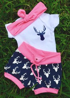 baby girl coming home outfit-take home outfit-stag outfit-navy and pink-newborn baby clothing-hunting outfit-camo outfit-neon pink outfit Baby Outfits Newborn, Toddler Outfits, Baby Boy Outfits, Kids Outfits, Newborn Clothing, Kids Clothing, Camouflage Baby, Cool Baby Clothes, Organic Baby Clothes