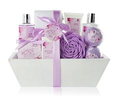 "Valentine's Day Gift for women. Premium Large Spa Basket, ""All The Best Wishes"" Gift Basket.   http://amzn.to/2ykrHcX"