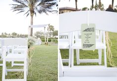 outdoor ceremony decor in Parkland, photo by rubberbootsphotography.com