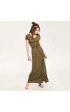 Платье с низом на запах, Dresses, jumpsuits, зеленый, RESERVED