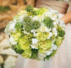 Bells of Ireland bridal bouquet