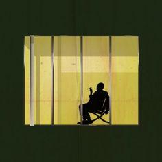 Architect+silhouettes+pose+inside+iconic+windows++for+Federico+Babina's+Archiwindow+series