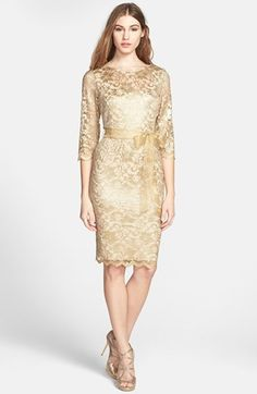 Alex Evenings Illusion Sleeve Lace Dress Pee Available At Nordstrom Maybe For