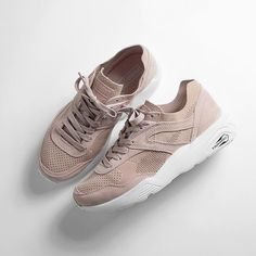 The soft pink @puma R698 has landed for the #ladiesthatlace - They're available exclusively in size? for women now and will be coming online over the next few days - #sizeHQ