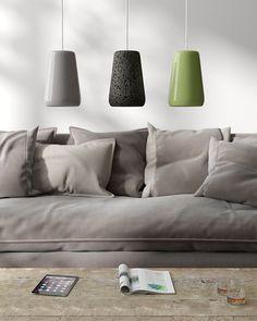Glazed lava stone lamp. Original details which simple introduce colors into living decor #lavastone #lampdesign