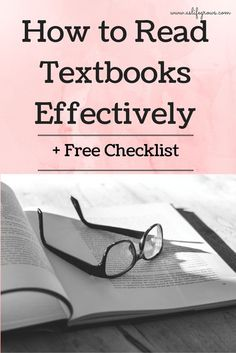 Are your professors requiring you to actually read the textbook in your classes? Click here to learn how to read textbooks effectively!